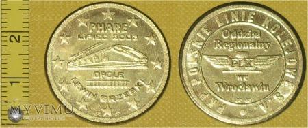 Medal kolejowy PKP PLK S.A. O. Reg. we Wrocławiu