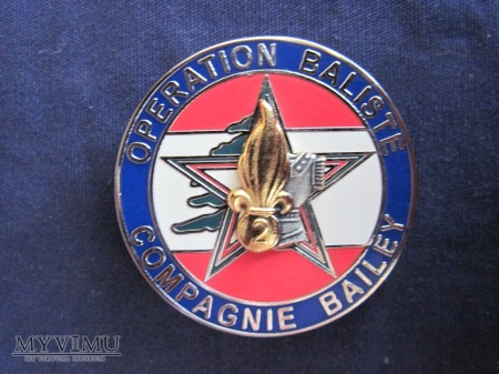 Compagnie Bailey 2 REG Operation BALISTE