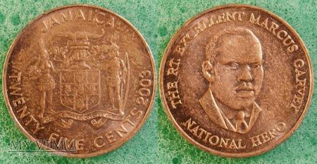 Jamajka, 25 Centów 2003