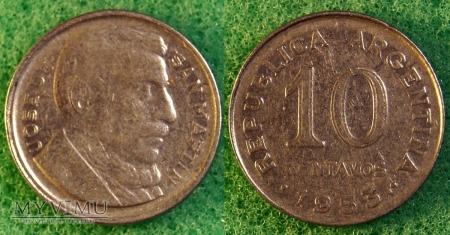 Argentyna, 10 centavos 1953