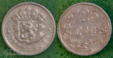 Luksemburg, 25 centimes 1954