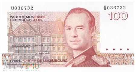 Luksemburg - 100 franków (1993)