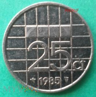 25 centów Holandia 1985