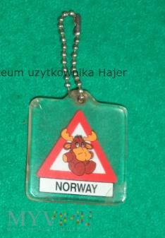 Norway Norwegen - brelok - uwaga na łosie