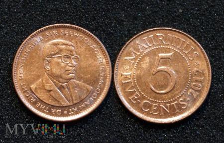 Mauritius, 5 centów