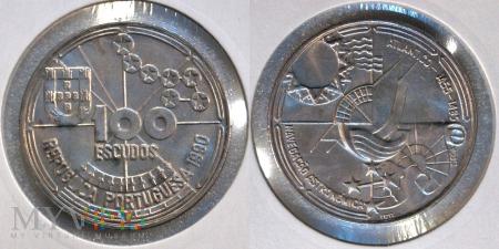 Portugalia, 100 ESCUDOS 1990