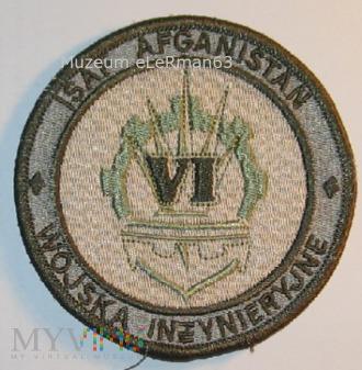 ISAF Afganistan Zmiana VI. Wojska Inżynieryjne.