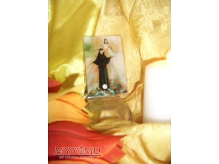 Obrazek z relikwią św. Fastyny Kowalskiej