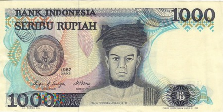 INDONEZJA 1000 RUPII 1987