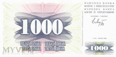 Bośnia i Hercegowina - 1 000 dinarów (1992)