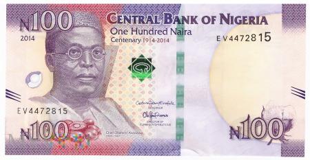 Nigeria - 100 naira (2014)