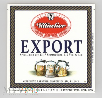 Villach, Export