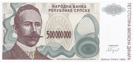Bośnia i Hercegowina - 500 000 000 dinarów (1993)