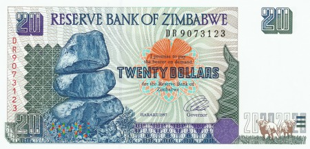 Zimbabwe - 20 dolarów (1997)