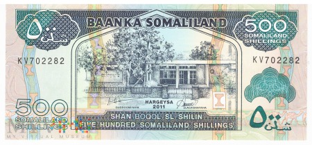 Somalia (Somaliland) - 500 szylingów (2011)