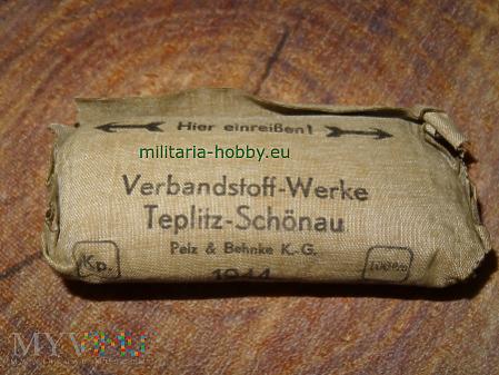 Niemiecki opatrunek osobisty wojskowy 1944