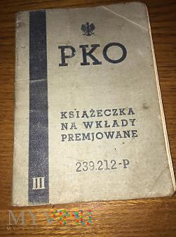 Książeczka PKO na Wkłady Premjowane - 1936r.