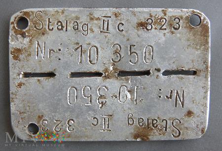 Duże zdjęcie Nieśmiertelnik jeniecki stalag II c 323
