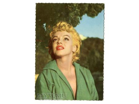 Duże zdjęcie Marilyn Monroe Aktorka Marylin vintage postcard