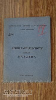 """Regulamin Piechoty """"Musztra"""" część IIa."""