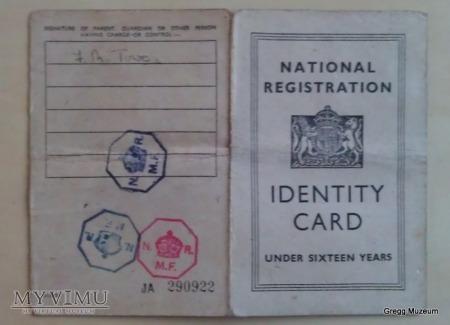 Angielski dowód tożsamości dla dzieci