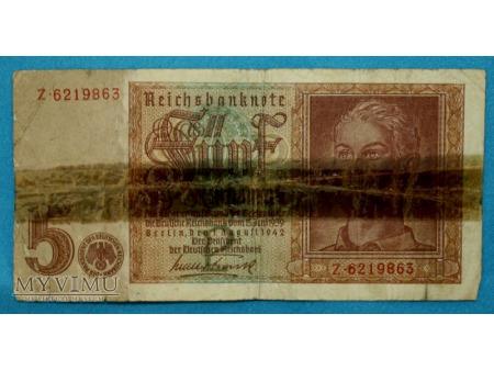 5 Reichsmark 1942