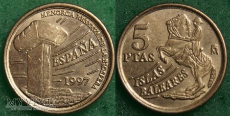 Hiszpania, 5 PTAS 1997