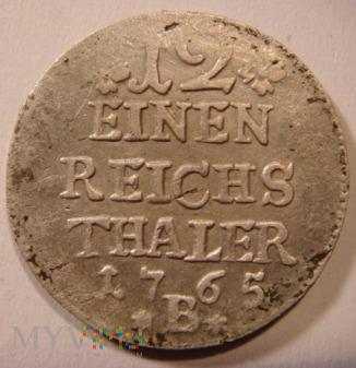 12 EINEN REICHS THALER 1765 B