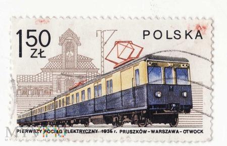 Pierwszy Pociąg elektryczny 1936r. 1,50zł