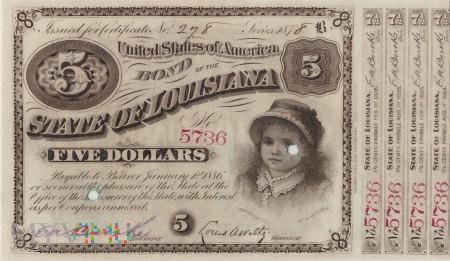Stany Zjednoczone (Luizjana) - 5 dolarów (1878)