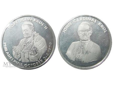 Wizyta Jan Pawła II w Filadelfii medal (Al) 1979