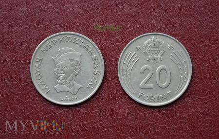 Moneta węgierska: 20 forint (1982-1989)