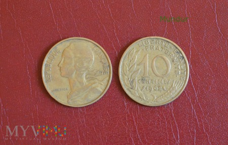 Moneta francuska: 10 centimes