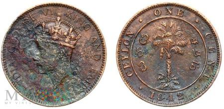 Cejlon, 1 cent 1942