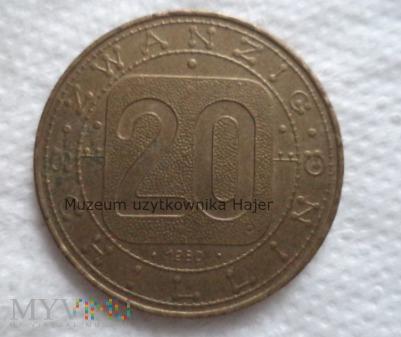 Duże zdjęcie Austria - 20 szylingów - 1980 rok