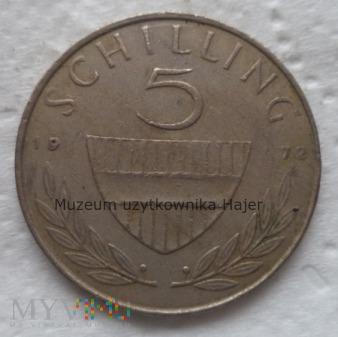 Duże zdjęcie Austria - 5 szylingów - 1972 rok