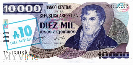 Argentyna - 10 australi (1985)