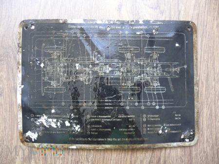 Tabliczka serwisowanie podwozia