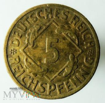 5 Reichspfennig 1924 E