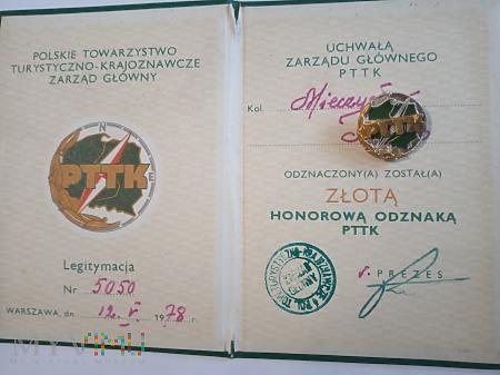 Honorowa Odznaka PTTK