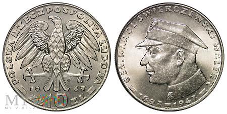 10 złotych, 1967, Karol Świerczewski