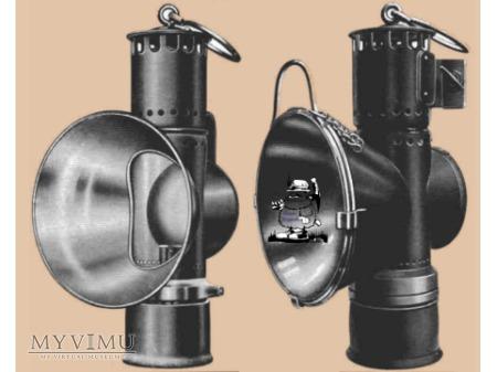 Benzynowa lampa lokomotywy kopalnianej