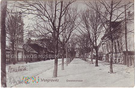 Duże zdjęcie Wągrowiec - ulica Gnieźnieńska 1908 rok