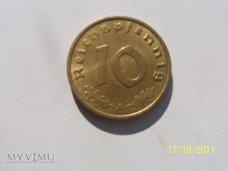 10 REICHSPFENNIG 1937 - MENNICA A - Berlin