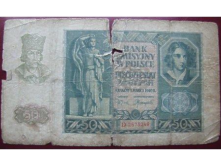 50 złotych 1940r.