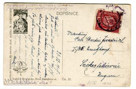 1917 Krampus i St. Nicholas Marie Gardavské
