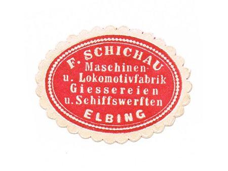 Duże zdjęcie Znaczek firmowy Schichau'a