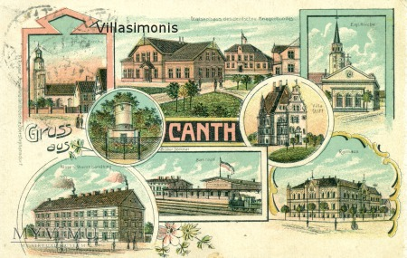 Litografia barwna z 1910 roku Gruss aus Canth