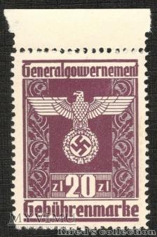 Gebührenmarke 20 złotych