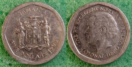 Jamajka, 5 Dolarów 1995